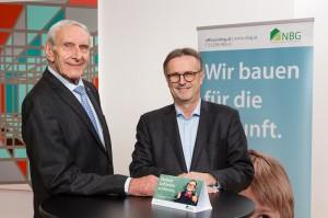 NBG Vorstand Dir. Walter Mayr (links), sowie Mag. Manfred Fabsits. Foto: Werner Jäger
