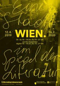 Ausstellungsplakat Wien. Eine Stadt im Spiegel der Literatur. Foto: Österreichische Nationalbibliothek / Ernst Schauder