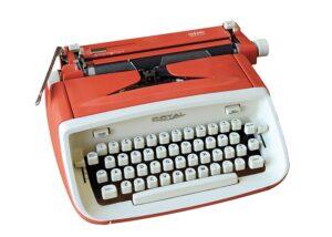 Frederic Mortons Schreibmaschine. Foto: Österreichische Nationalbibliothek