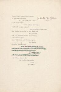 """Elfriede Gerstl: """"Wien. Stadt mit Ärmelschoner"""", o. D. Foto: Österreichische Nationalbibliothek"""