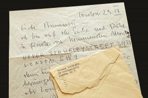 Brief von Thomas Bernhard an Annemarie Hammerstein-Siller vom 29. 09. 1960. Foto: ÖNB
