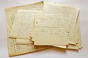 Auswahl an Briefen von Alfred Polgar an Carl Seelig. Foto: ÖNB