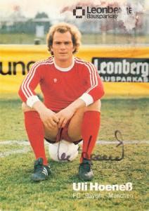 Verletzungsbedingt musste der erst 27-jährige Uli Hoeneß zum Ende der Saison 1978/79 seine aktive Laufbahn beenden. Aus dem erfolgreichen Spieler wurde der noch erfolgreichere Manager. Sammlung: oepb