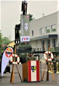 Bataillonskommandant Oberst Reinhard Koller bei seiner Dankesrede. Foto: oepb