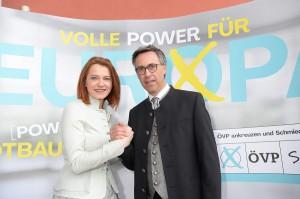 Simone Schmiedtbauer und Georg Strasser. Foto: STVP / Fischer