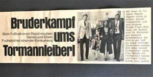 Zeitungs-Faksimile von 1970. Sammlung: Fuchsbichler