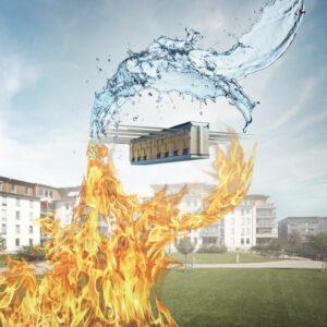 Der Schöck Isokorb ist stark im Brandschutz und beständig gegen Baufeuchte und Witterung. Foto: Schöck Bauteile GmbH