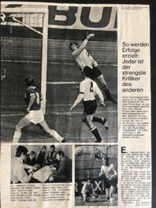 Zeitungs-Faksimile von 1971. Sammlung: Fuchsbichler