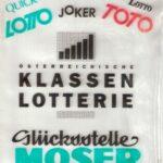 In den kleinen Lotto-Toto-Sackerln transportierte man die Spielscheine und wohl auch ab und an den Gewinn. Dieser wurde naturgemäß wieder eingesetzt – und verspielt. Foto: oepb