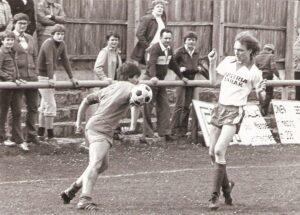 Der SV Austria Tabak Linz bei einem Heimspiel in den späten 1970er Jahren. Foto: oepb