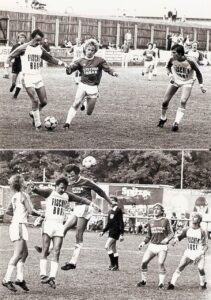 Es lief alles ein wenig idyllisch ab, wenn Austria Tabak zu einem Heimspiel lud. Hier im Rahmen eines Derbys gegen Union Edelweiss Linz in der Saison 1980/81. Foto: oepb