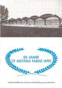 Zum 60-jährigen Gründungsfest 1994 wurde nicht nur die neue überdachte Tribüne eingeweiht, der Verein legte auch eine kleine Din A5-Festschrift auf. Sammlung: oepb