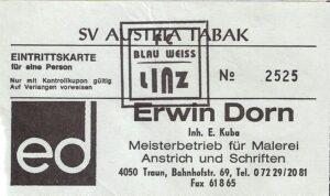 Eine alte Eintrittskarte von 1997. Sammlung: oepb