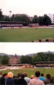 Impressionen aus Krems vom 21. Mai 1988. Aus Kremser SC gg. SK VÖEST Linz, 3 : 1 (Pausenstand 2 : 0), 1.500 Zuschauer. Foto: oepb