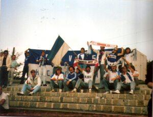Impression aus Krems vom 5. August 1988. Aus Kremser SC gg. SK VÖEST Linz, 4 : 1 (Pausenstand 2 : 0), 2.500 Zuschauer. Foto: oepb