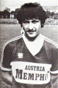Alois Zipflo Weinrich 1982 am Weg in den Kampfmannschaftskader beim FK Austria Wien. Foto: Alois Weinrich / oepb