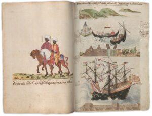 """Der """"westliche Blick"""" auf den Orient; Manuskript, 16. Jahrhundert. Bild: Österreichische Nationalbibliothek"""