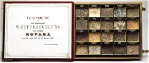 Geschenkskassette mit im Zuge der Weltumsegelung der Fregatte Novara gesammelten Gesteinsproben. Foto: NHM Wien