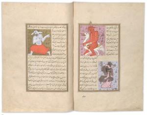 Die Wunder der Schöpfung; Manuskript, 1576/77. Bild: Österreichische Nationalbibliothek