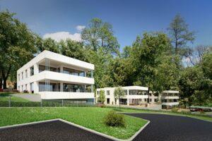 GRIFFNER baut am Rosenhain in Graz ein innovatives Immobilienprojekt mit sieben Wohneinheiten. Foto: www.villen-im-park.at