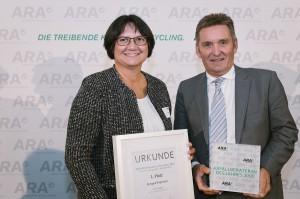 Ingrid Pirgmayer (MA48) und Werner Knausz (ARA). Foto: ARA / Ines Bacher