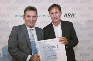 Werner Knausz (ARA, links) mit Josef Krobath (AWV Leibnitz). Foto: ARA / Ines Bacher