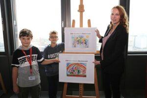 Die jungen Künstler bewiesen dabei handwerkliches Geschick und eine gekonnte Pinsel- und/oder Malstift-Führung. Foto: ÖBB / Scheiblecker