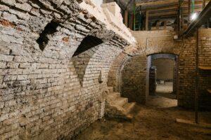 Innenansicht des Kellerraumes in der Malzgasse 16. Foto: HdGÖ / Klaus Pichler