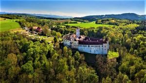 Drohnenflug über die Schallaburg im niederösterreichischen Bezirk Melk. Foto: Schallaburg, Alexander Kaufmann