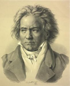 Ludwig van Beethoven; Lithografie nach einer Zeichnung von August von Kloeber; 1841 - Foto: © Österreichische Nationalbibliothek