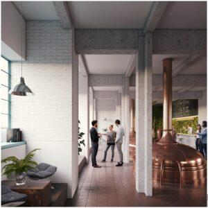 Nun soll darin ein multifunktionaler Hörsaal, eine Brauereianlage für Linzer Bier ...