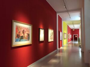 "Blick in die Museum Gugging-Ausstellung ""gehirngefühl"". Foto: Museum Gugging"