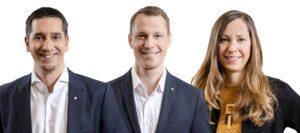 Von links: Christian Zechmeister (Bereichsleitung Gebietsmarketing & Märkte AT-DE), Michael Zimmermann (Bereichsleitung Märkte international), sowie Sabine Bauer-Wolf (Bereichsleitung Kommunikation). Foto: © ÖWM / Robert Herbst