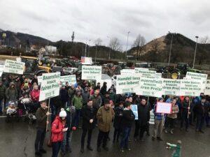Bauernprotest in der Steiermark. Foto: © Bauernbund