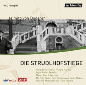 Hör-CD Cover DIE STRUDLHOFSTIEGE von Heimito von Doderer. Foto: ORF Shop