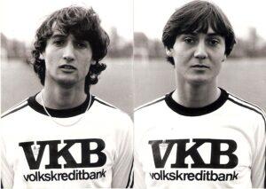 Kurt (links) und Wolfgang Nagl im Dress des LASK in der Saison 1979/80. Foto: © oepb