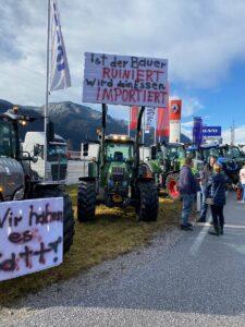 Bauernproteste auch in Tirol. Foto: © Bauernbund