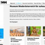 Screenshot der neuen Landing Page. Bild: Museum NÖ