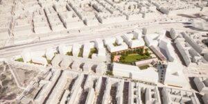 Zwischen der Landgutgasse, der Laxenburger Straße und den Bahntrassen entsteht bis 2026 ein neuer Stadtteil im 10. Bezirk. Foto: © ÖBB estudio elgozo