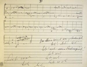 Gustav Mahler, 10. Sinfonie Originalhandschrift, 1910. Foto: © Österreichische Nationalbibliothek