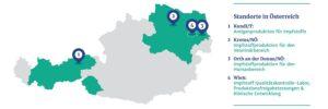 Anlässlich der Europäischen Impfwoche 2020: Die Impfstoffproduktion ist europäisch. 12 Forschungszentren und 27 Produktionsstätten befinden sich in Europa. Und auch in Österreich wird emsig geforscht und produziert. Grafik: © ÖVIH