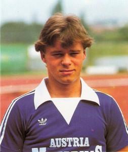 """Der 20-jährige Harald """"Harry"""" Fürst im Sommer 1980 im Kampfmannschaftskader des FK Austria Wien. Foto: © oepb"""