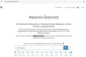 Im Webarchiv kann ähnlich wie bei einer Suchmaschine nach relevanten Ergebnissen gesucht werden. Bild: © Österreichische Nationalbibliothek