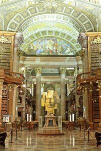 Beethoven-Inszenierung im Prunksaal der Österreichischen Nationalbibliothek; Atelier Wunderkammer, 2019. Foto: © Österreichische Nationalbibliothek