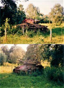 Die Aufnahmen stammen vom Juli 1991. Der US M24 Panzer, der jahrzehntelang am WÜPL als stiller Zeuge der Befreiung Österreichs verblieben war, ist inzwischen abtransportiert worden. Foto: © oepb
