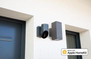 Erfreuliche Nachrichten für alle Apple-Fans: Somfys Außenkamera unterstützt nun auch Apple HomeKit. Foto: © Somfy