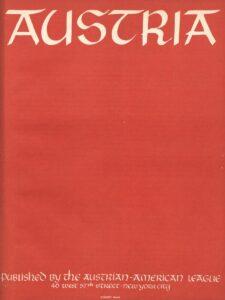 AUSTRIA. Erscheinungsort: New York, Ausgabe: 1941, April. Bild: © ÖNB