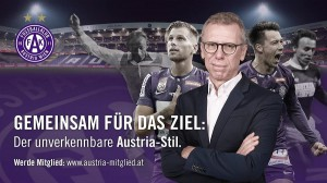 """Seit 2019 Sport-Direktor und nun, ab 1. August 2020 auch Trainer des FK Austria Wien ist Peter Stöger, Erz-Violetter mit """"Stallgeruch"""". Foto-Grafik: © FAK"""