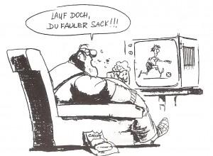 Fußball im TV: Immer schon gerne gesehen und in Corna-Zeiten umso mehr gerne im Fernsehen konsumiert.