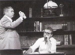 """Zwei Vollblutkomödianten, die tatsächlich """"Ein seltsames Paar"""" abgaben. Gemeinsam mit Alfred Böhm (links) in den Kammerspielen. Foto: privat"""